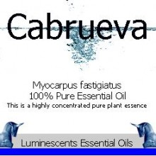 cabrueva essential oil label