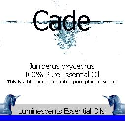 cade essential oil label