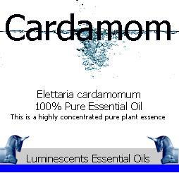 cardamom essential oil label