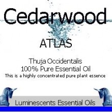 cedarwood atlas essential oil label