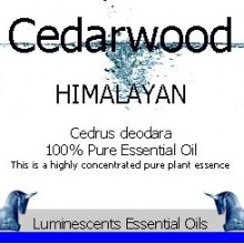 cedarwood himalayan essential oil label