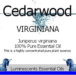 cedarwood virginian essential oil label