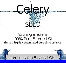 Celery Seed Essential Oil Label