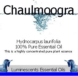 chaulmoogra essential oil label
