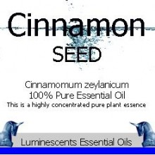 Cinnamon Seed Essential Oil Label