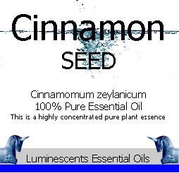 Cinnamon Seed Essential Oil Label