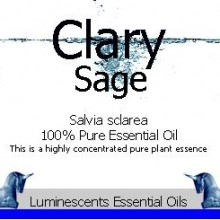 clary sage essential oil label