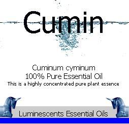 Cumin see essential oil label