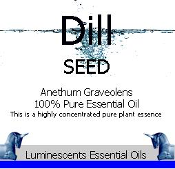 dill seed essential oil label