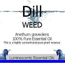 dill weed essential oil label