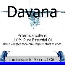 davana essential oil label