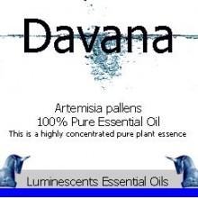 davana essential oil label