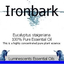ironbark essential oil label