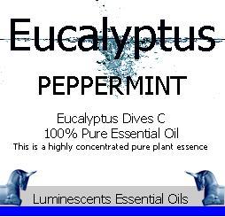 peppermint eucalyptus label