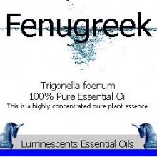 fenugreek essential oil label