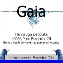 Gaia essential oil label