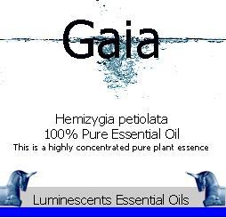 Gaia essential oil label