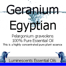 egyptian geranium essential oil label