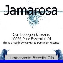 jamarosa essential oil label