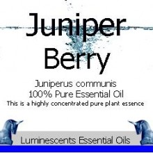 juniper berry essential oil label