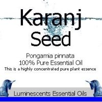karanj seed essential oil label