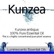 kunzea essential oil label