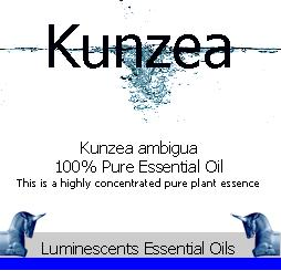 kunzea essential oil label