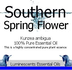 southern spring flower essential oil label