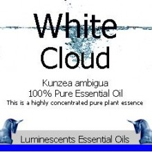white cloud essential oil label
