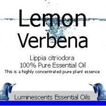 lemon verbena essential oil label