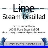 lime steam distilled essential oil