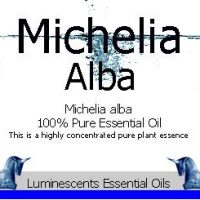 Michelia alba essential oil label