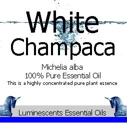 white champaca essential oil label