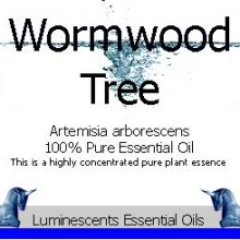 tree wormwood essential oil label