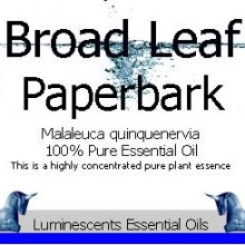 broad leaf paperbark essential oil label