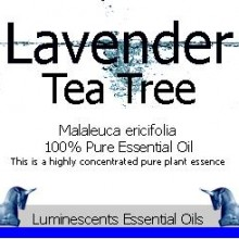 lavender tea tree essential oil label