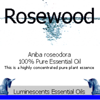 rosewood essnetila oil label
