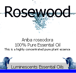 rosewood essnetila oil label