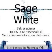 wild white sage essential oil label