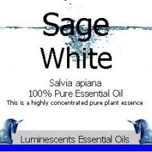 wild white sage essential oil label