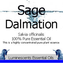 sage dalmatian essential oil label