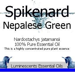 spikenard nepalese green essential oil label
