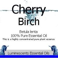 cherry birch essential oil label