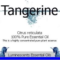 tangerine essential oil label