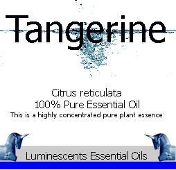 tangerine essential oil label
