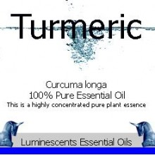 turmeric essential oil label