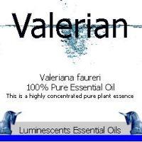 valerian essential oil label