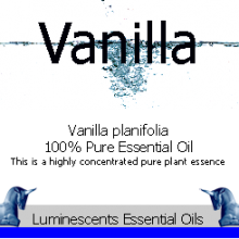 vanilla essential oil label