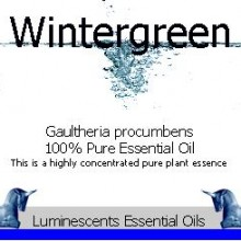 wintergreen essential oil label