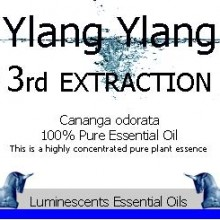 ylang ylang 3rd extraction essential oil label